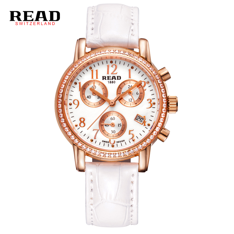 2017 New READ Brand Women Leather Quartz Watches Luxury Popular Watch Women Casual Fashion Wristwatches Relogio Feminino 2017 new fashion tai chi cat watch casual leather women wristwatches quartz watch relogio feminino gift drop shipping
