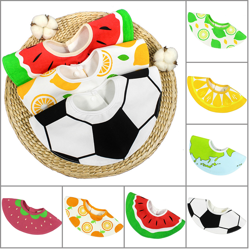 New cuye Fruit Printed Waterproof Baby Bibs 360 degree Rotatable 4-layer Bibs for baby ...