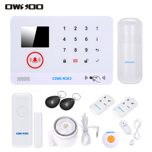 Wired alarm system burglar alarms wire center owsoo wireless 3g sms alarm security system water door sensor lcd rh aliexpress com wired security camera system hardwired security systems honeywell solutioingenieria Images