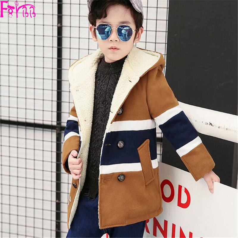 2017 Kids Children's Clothing Outerwear Coats Wool Blends winter jacket winter coat boys boy kids jackets   boys clothes