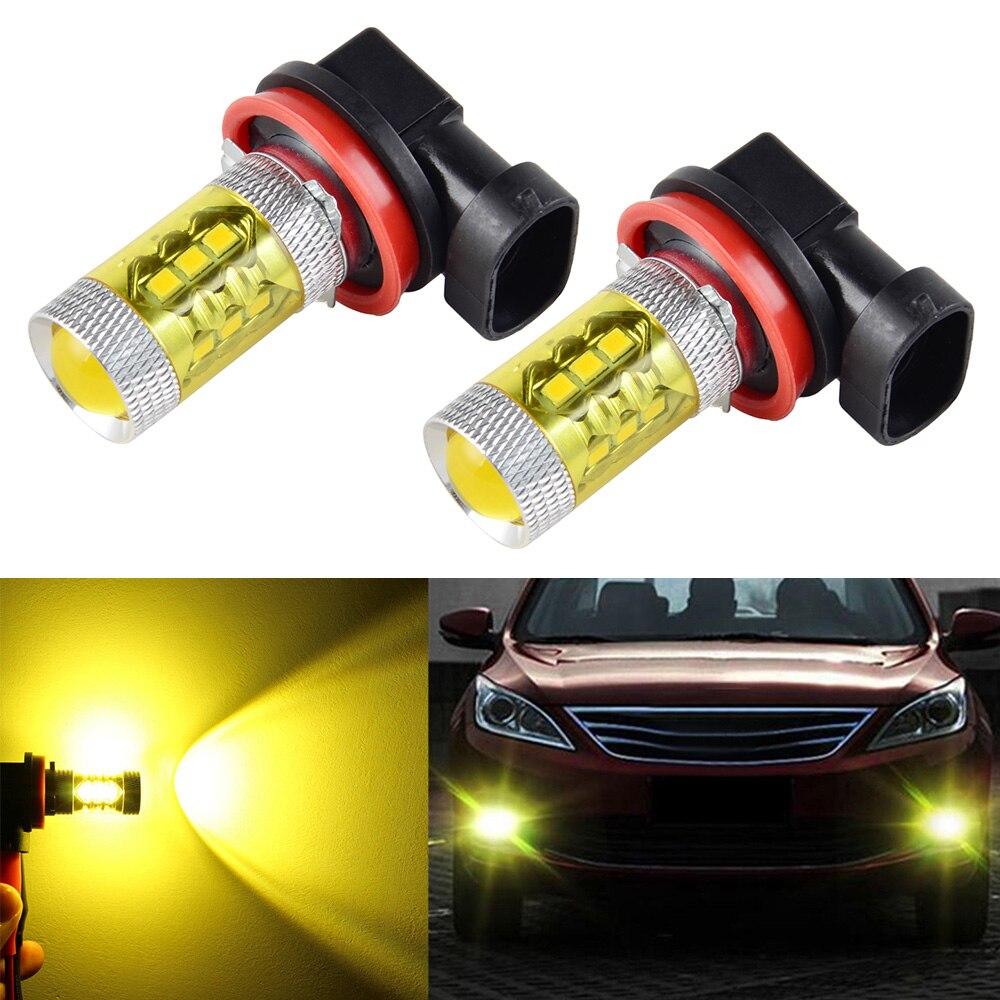 2x3000K H16 Gold Yellow 3030 SMD LED Fog Driving Light ...