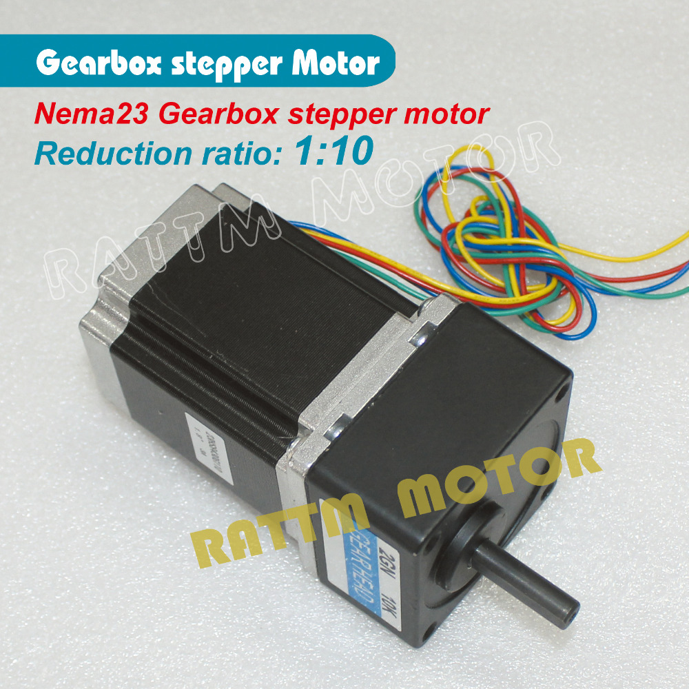 ФОТО Gear motor 5:1 Ratio Nema23 stepper motor 850oz.in 3.0A for CNC Router Engraving machine