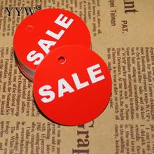 Новинка 500 шт плоский круглый ценник бумажная этикетка распродажа буквенный принт Горячая Акция Ювелирные изделия Disply витрина карты 45 мм красный цвет