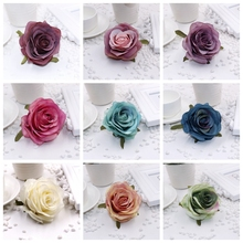 10pcs 8cm centimeters silk artificial flowers blooming rose wedding party home decoration DIY wedding festive handmade flowe