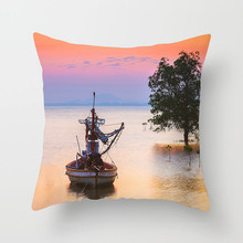 Fuwatacchi Tree Forest Pattern Cushion Cover Scenic Style Throw Pillow Car Home Decor Decoration Sofa Decorative Pillowcase simple style coconut tree freehand sketching pattern pillowcase