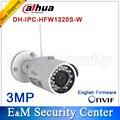 Original Dahua IPC-HFW1320S-W Original Dahua CCTV câmera da bala IP câmera de 3MP HD 1080 P com wi-fi