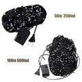 50M/100M 250/500 LED String Lights Outdoor Christmas Wedding Party Fairy Lamp Multicolor AC220V EU Plug
