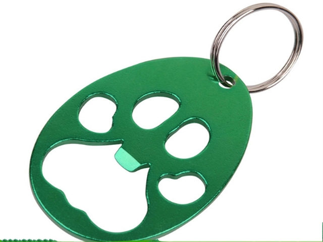 US $500 0 |1000pcs/lot Fast shipping Wholesale Metal pawprint beer bottle  opener cheap bulk bottle opener keychain-in Openers from Home & Garden on