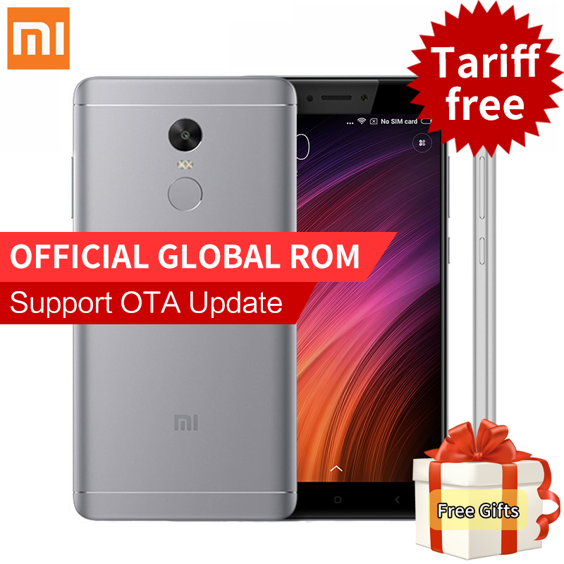 "Original Xiaomi Redmi Note 4X 4 X 3GB RAM 32GB ROM Mobile Phone Snapdragon 625 Octa Core 5.5"" FHD 4100mAh Global ROM Fingerprint"