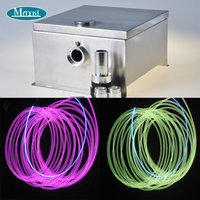 swimming pool decoration with 80W LED emitter solid core 8mm side glow fiber optic cable 20m length