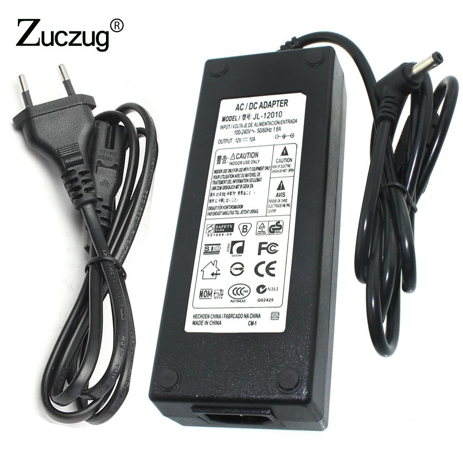 цена на universal 12 v Power switching Adapter AC 220V to DC 12V 10A 12 volt led strip driver Converter Transformer Power Supply Charger
