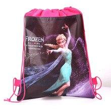Disney Theme Freezing Anna Elsa Snow Queen Movie Frozen Bag Non-woven Drawstring Bags School Bag Shopping Bag 1pcs недорго, оригинальная цена