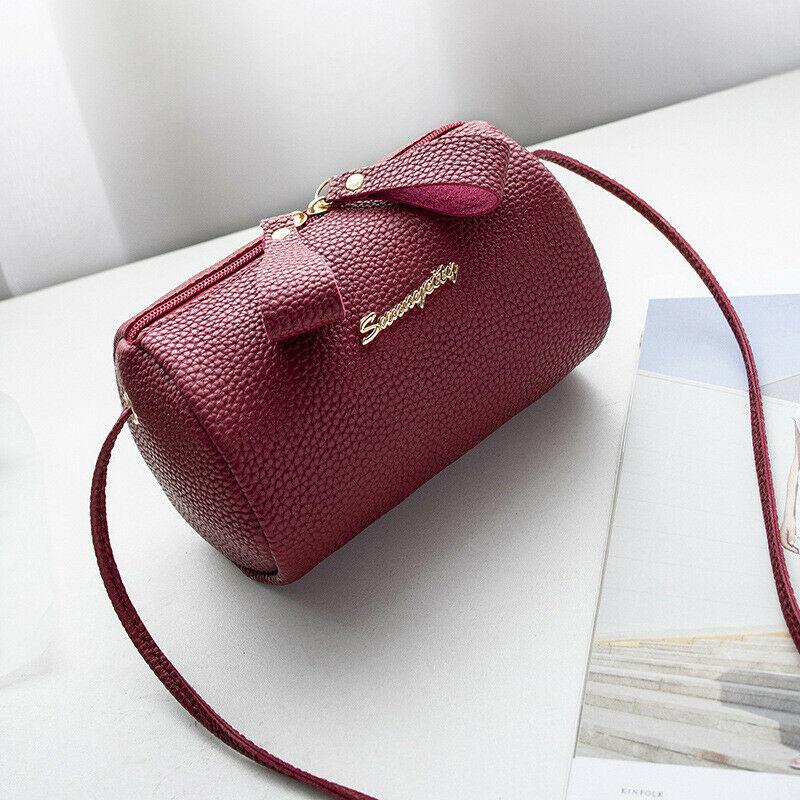 Style Solid Zipper Cross Body Bag Ladies Shoulder Handbag Women's Purse PU Leather Messenger Satchel