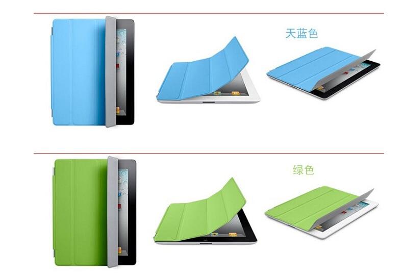 купить 3 fold with mental frame top front smart cover for apple ipad mini 1 2 3  supper slim thin недорого