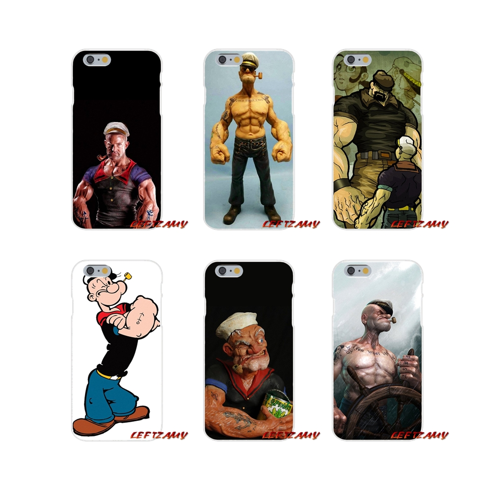 For Samsung Galaxy S3 S4 S5 MINI S6 S7 edge S8 S9 Plus Note 2 3 4 5 8 Anime popeye poker Soft Phone Case Silicone