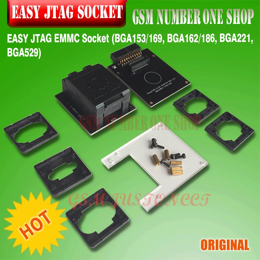 Fine Workmanship Symbol Of The Brand Easy Jtag Emmc Socket bga153/169, Bga162/186, Bga221, Bga529