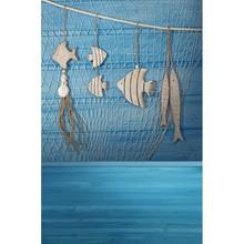 Sea blue photo background for kids photo shooting fishing nets photography backdrop for photo studio background fotografia