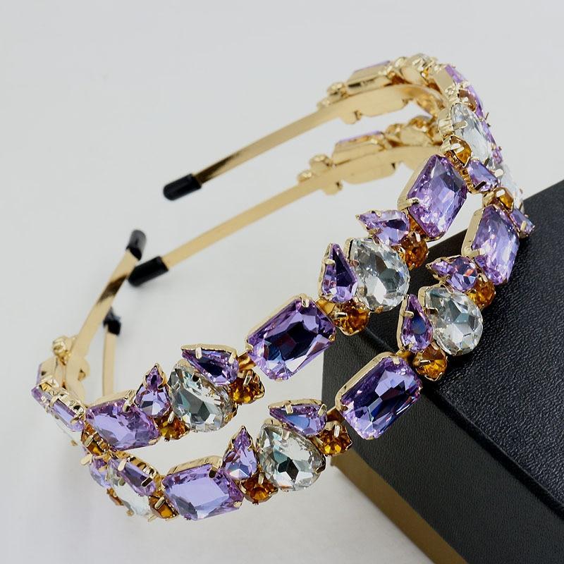 Summer New Women purple Crystal crown gem luxury banquet loving sweet alloy headband the Hair band hair accessories Jewelry Gift флешка usb 16gb transcend jetflash 790 usb3 0 ts16gjf790k черный