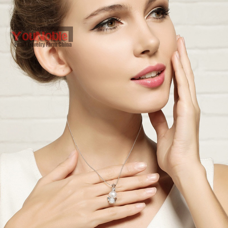 Real Hermosa perla de agua dulce colgante de plata 925, joyería de - Joyas - foto 4