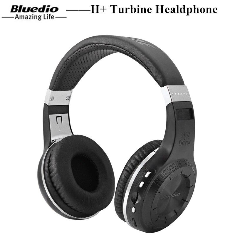 Bluedio H + turbina Bluetooth inalámbrico auriculares para juegos con línea de tarjeta SD Radio FM Mic Bluetooth gaming Headset