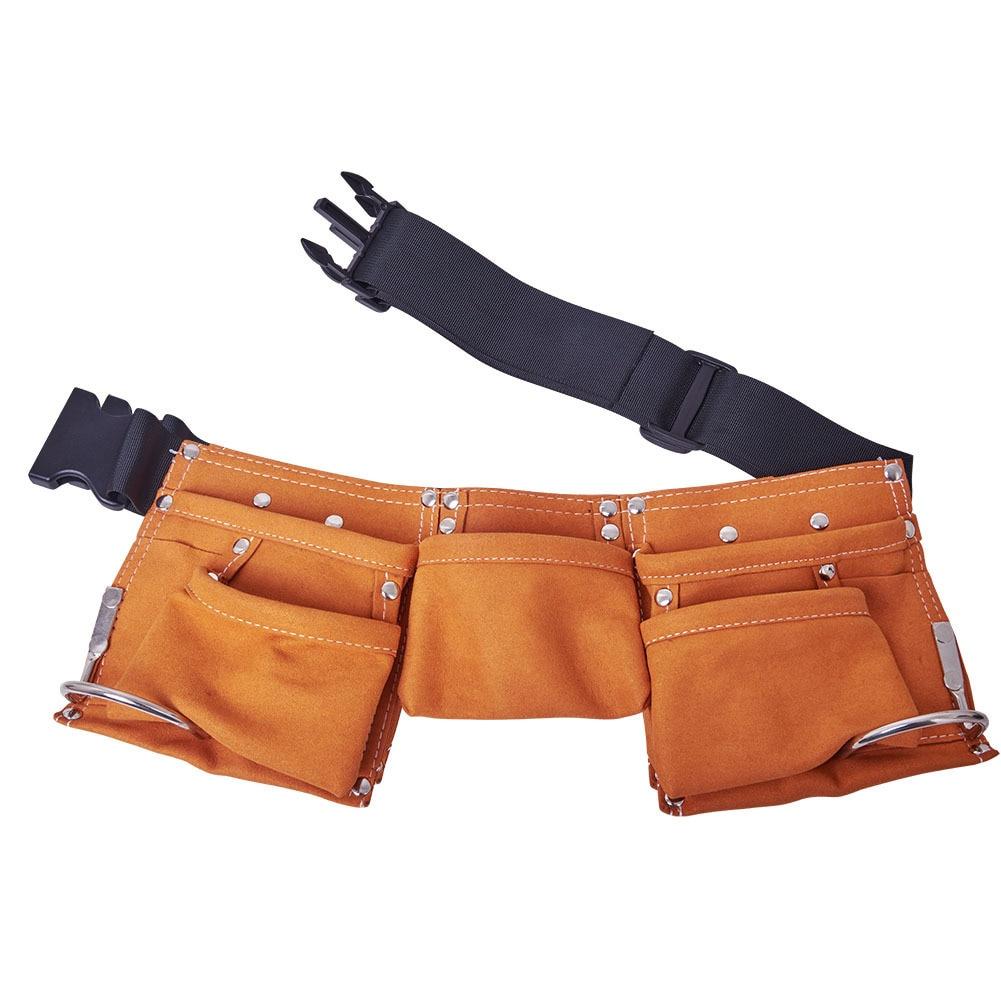 Tool Bag Belt Screwdriver Children Real Leather Tool Belt Work Bag Garden  Repair Waist Bag