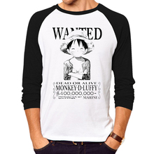 One Piece T shirt Fashion Anime Clothing Cotton long sleeves