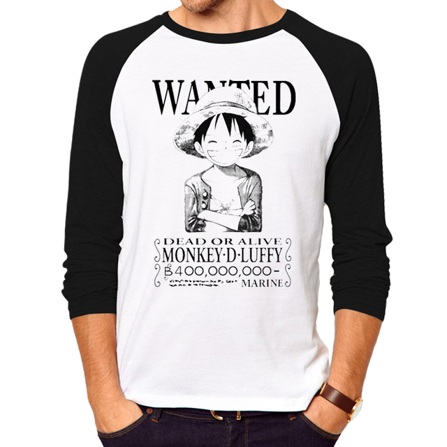 Anime One Piece Clothing Luffy Cotton T-shirt