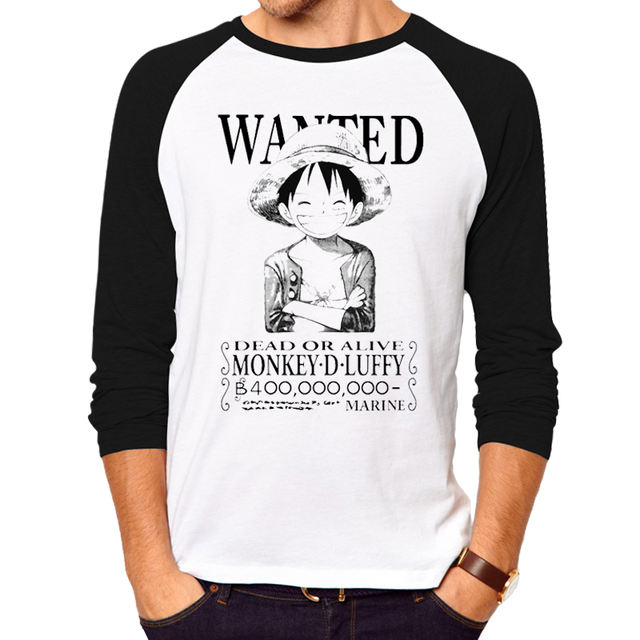 Luffy Wanted Long Sleeves T-Shirt