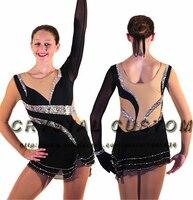 Обувь для девочек Фигурное катание Платья для женщин Элегантный Новый бренд Конкурс лед фигурное катание платье детей dr3513