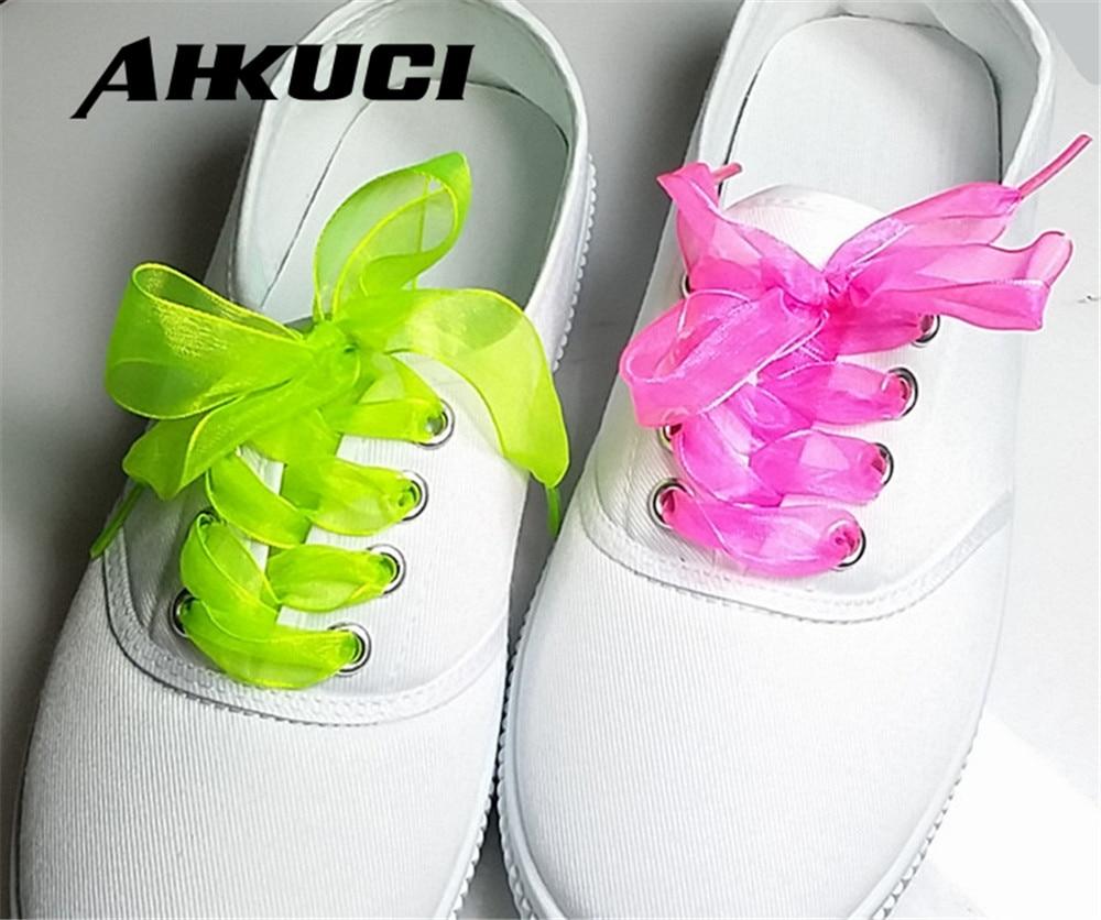10 pairs Shoe laces Strings For Multi Color Chiffon Shoelaces Adult Child Sizes Trainers  Boots 110cm