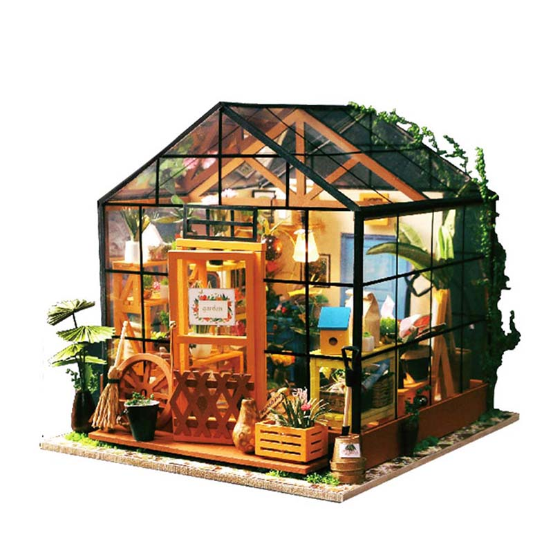 DIY Miniature Doll House Realistic 3D Wood Doll Houses Handmade Small Dollhouse Model Flower Shop Toy for Girl Decorations Gifts legos for boys ninjago