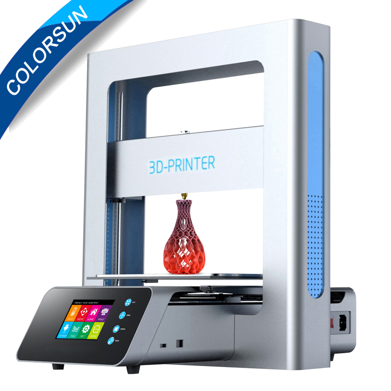 Portable 3D Printer Full Metal Frame High Precision Large Printing Size USB Printing Machine LCD Touch Screen Display promotion price mingda new glitar 6c 300 200 600mm big 3d printer machine large 3d printing machine with touch screen lcd