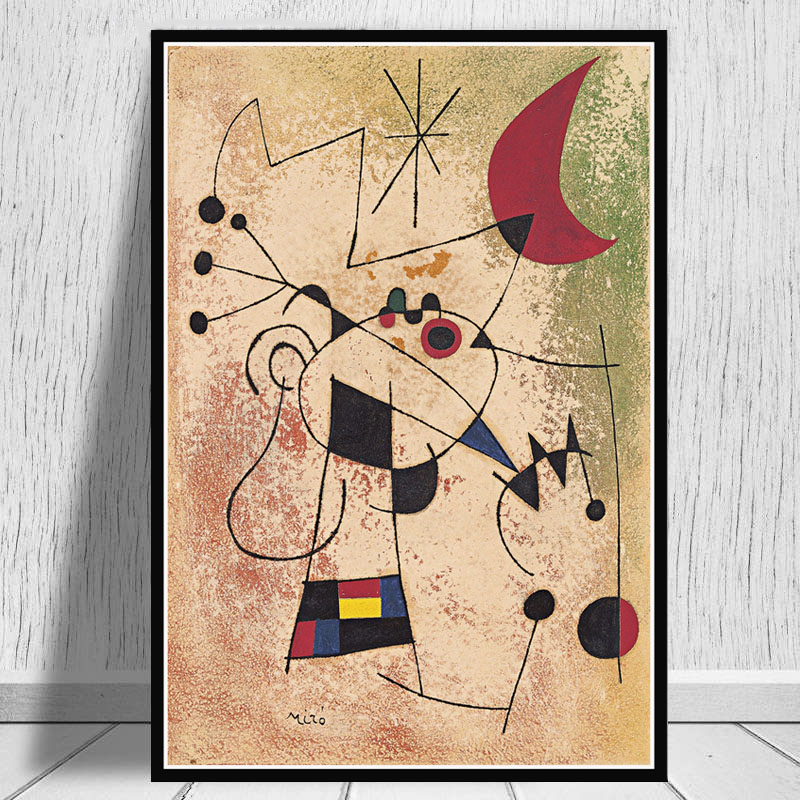 Joan Miro Famous Modern Abstract Retro Paintings Art Poster And Prints Wall Art Canvas Wall Pictures For Living Room Home Decor Buy At The Price Of 2 99 In Aliexpress Com Imall Com
