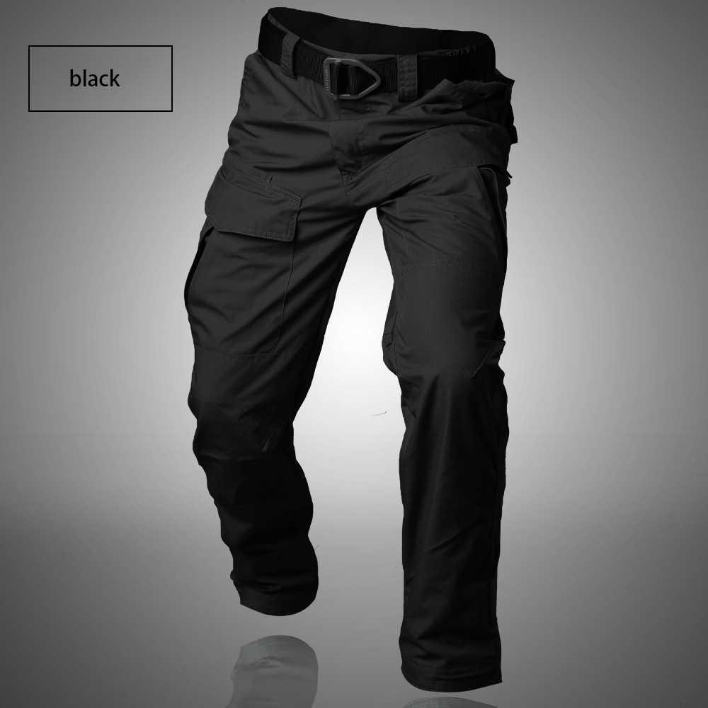 GEJIAN miasto wojskowe taktyczne spodnie w stylu cargo męskie na co dzień wielu kieszenie spodnie rozciągliwe Pantalones Hombre mężczyźni SWAT walki armii do spodni