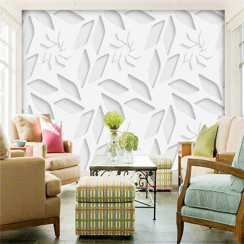 Custom Flowers Wall Papers 3d Stereoscopic Wallpaper Embossed Non-Woven TV Background Kitchen Study Bedroom Living Room 3d Wall high quality modern simple non woven flocking wallpaper 3d stereoscopic embossed wall papers home decor living room wallpaper
