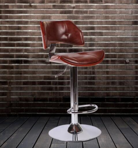 High-end fashion solid wood chair. The bar chair. High chairs.. real wood bar chair european bar chair iron art chair rotate the front chair