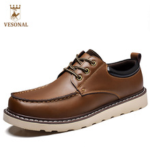VESONAL Hot Sale 2017 Brand Work font b Casual b font Men font b Shoes b