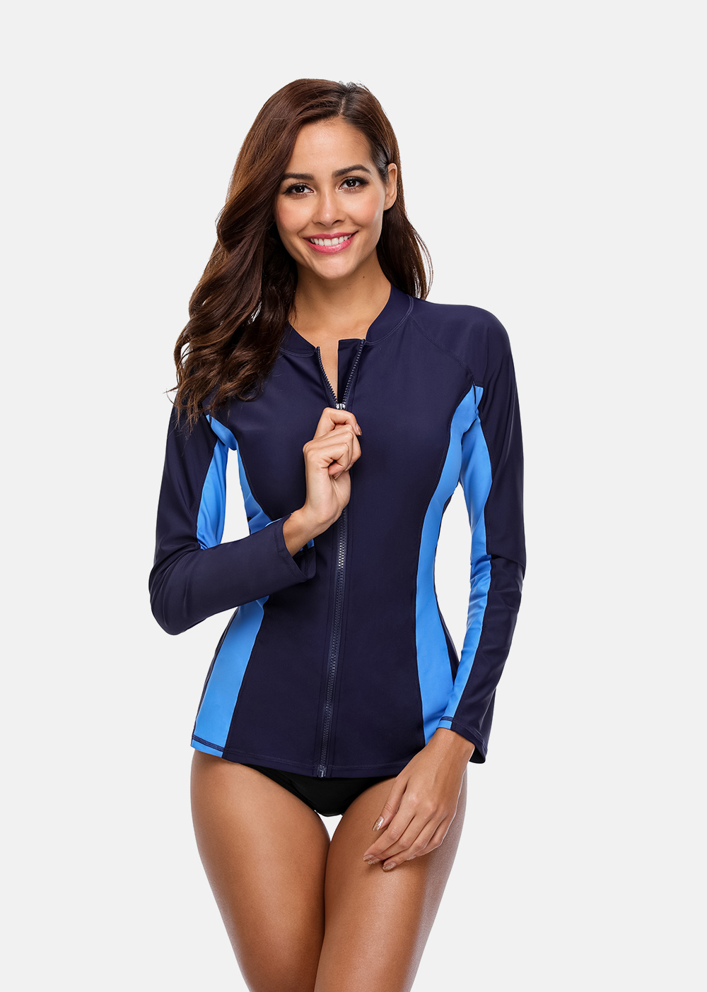 surf superior rash guard zíper upf50 +