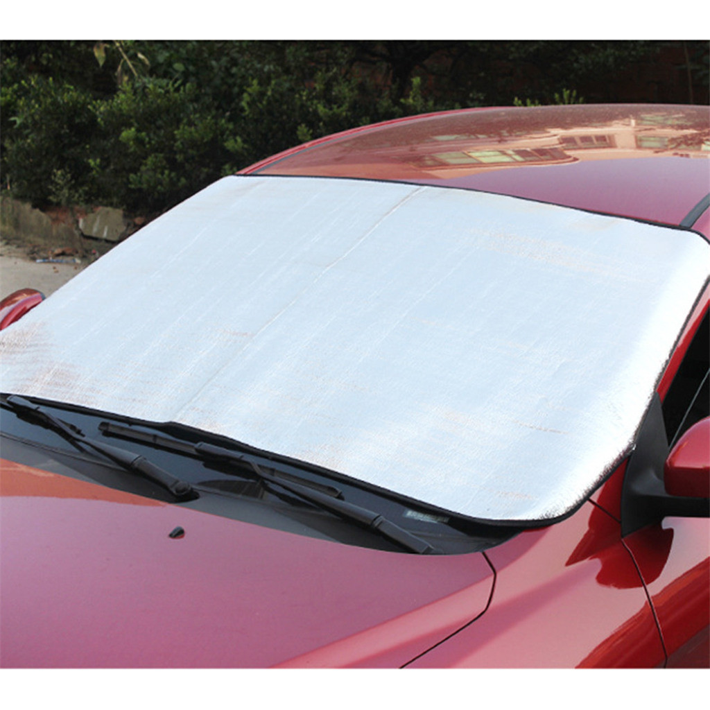 Image 3 - Car Sun Shade Auto Curtain  Windshield Snow Cover Ice Removal Wiper Visor Protector All Weather Winter Summer Sunshade Car-in Windshield Sunshades from Automobiles & Motorcycles