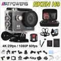 Câmera ação deportiva Original EKEN H9/H9R remoto Ultra HD 4 K WiFi 1080 P 60fps 2.0 LCD 170D pro esporte à prova d' água ir câmera