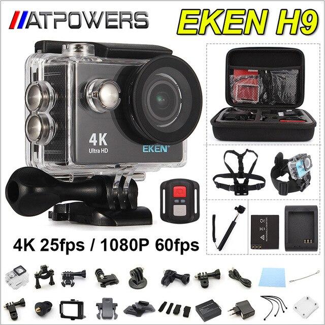 Eylem kamera deportiva Orijinal EKEN H9/H9R uzaktan Ultra HD 4 K WiFi 1080 P 60fps 2.0 LCD 170D pro sport su geçirmez git kamera