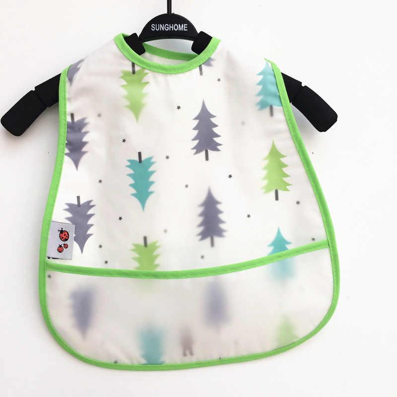 1 Pza Baberos de Eva para bebé a prueba de agua Baberos de almuerzo frutas de dibujos animados impresión bebés Baberos de árbol niños niñas de alimentación eructos Baberos delantales