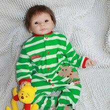 22 inch 55cm NPK Dolls Reborn Baby Boy Dolls Handmade Realistic Soft Silicone baby Alive Newborn Bonecas