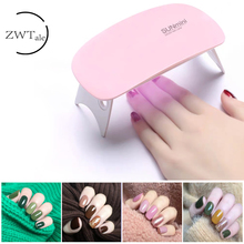 ZWTale 6W Nail Dryer Machine UV LED Lamp Portable Micro USB Cable Home Use Gel Varnish Art Tools