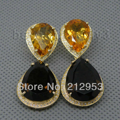 Vintage solid 14kt yellow gold citrine smoke mystic for Cheap gold jewelry near me
