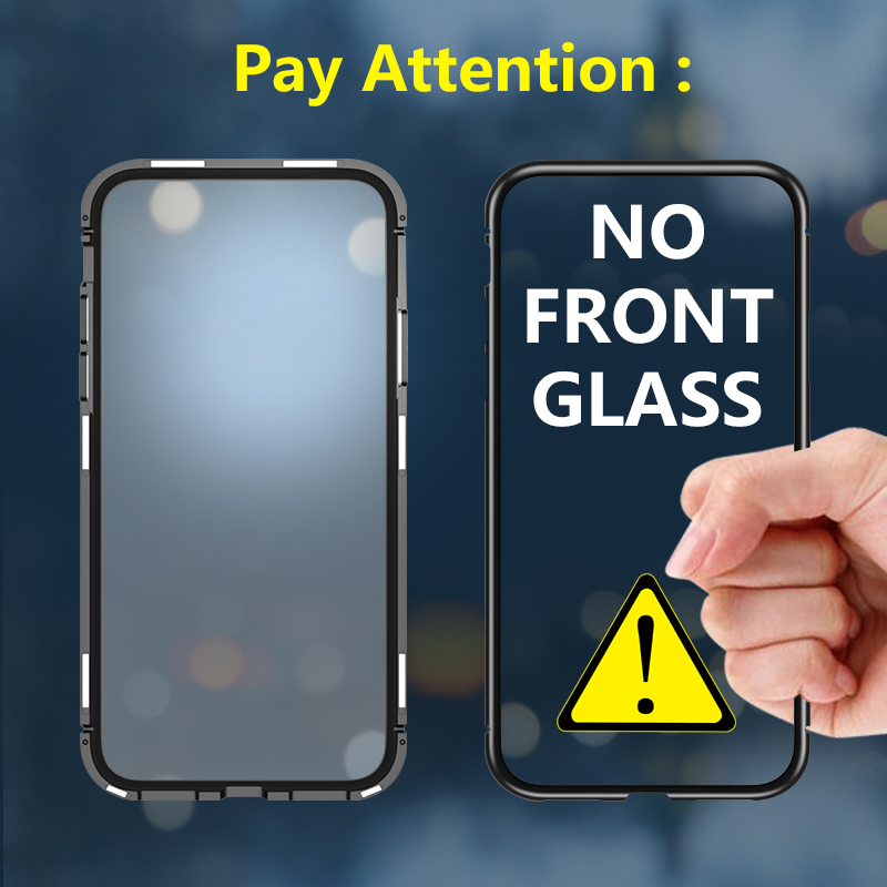 magnetic-flip-case-for-xiaomi-pocophone-f1-case-cover-clear-transparent-tempered-glass-back-cover-metal