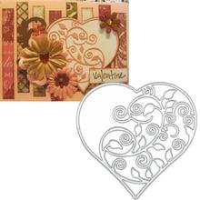 1pcs heart shape matel Cutting Dies Cut Stencil Metal Template Mould DIY Scrapbook Album Paper Card Decoration dies Craft