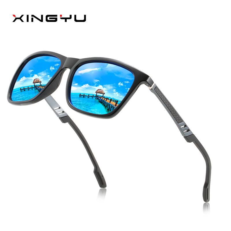 Polarized sunglasses for men and women Carbon fiber aluminum magnesium foot wire classic style Fashion sunglasses Driving glass