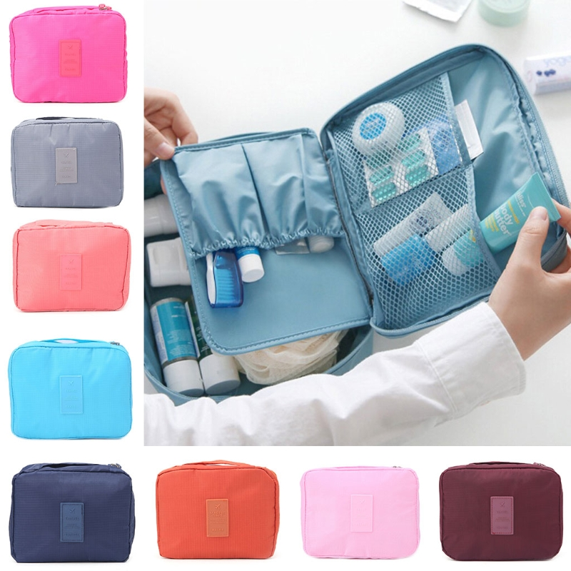 Portable Travel Makeup Bag Cosmetic cases Toiletry Case Pouch Holder Organizer Cosmetic Bag 2017 new vintage characters makeup cases travel cosmetic organizer case korean beauty cases portable cosmetics pouch bag