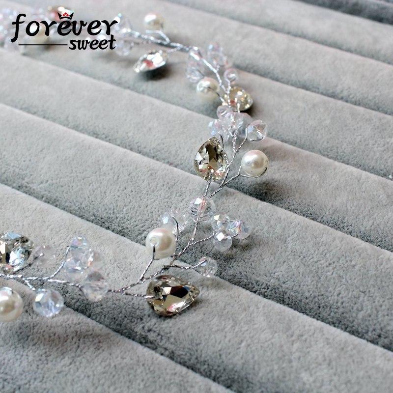 handgemachte weiße Kristallperlenperlen zarte Stirnband Kranz - Modeschmuck - Foto 4